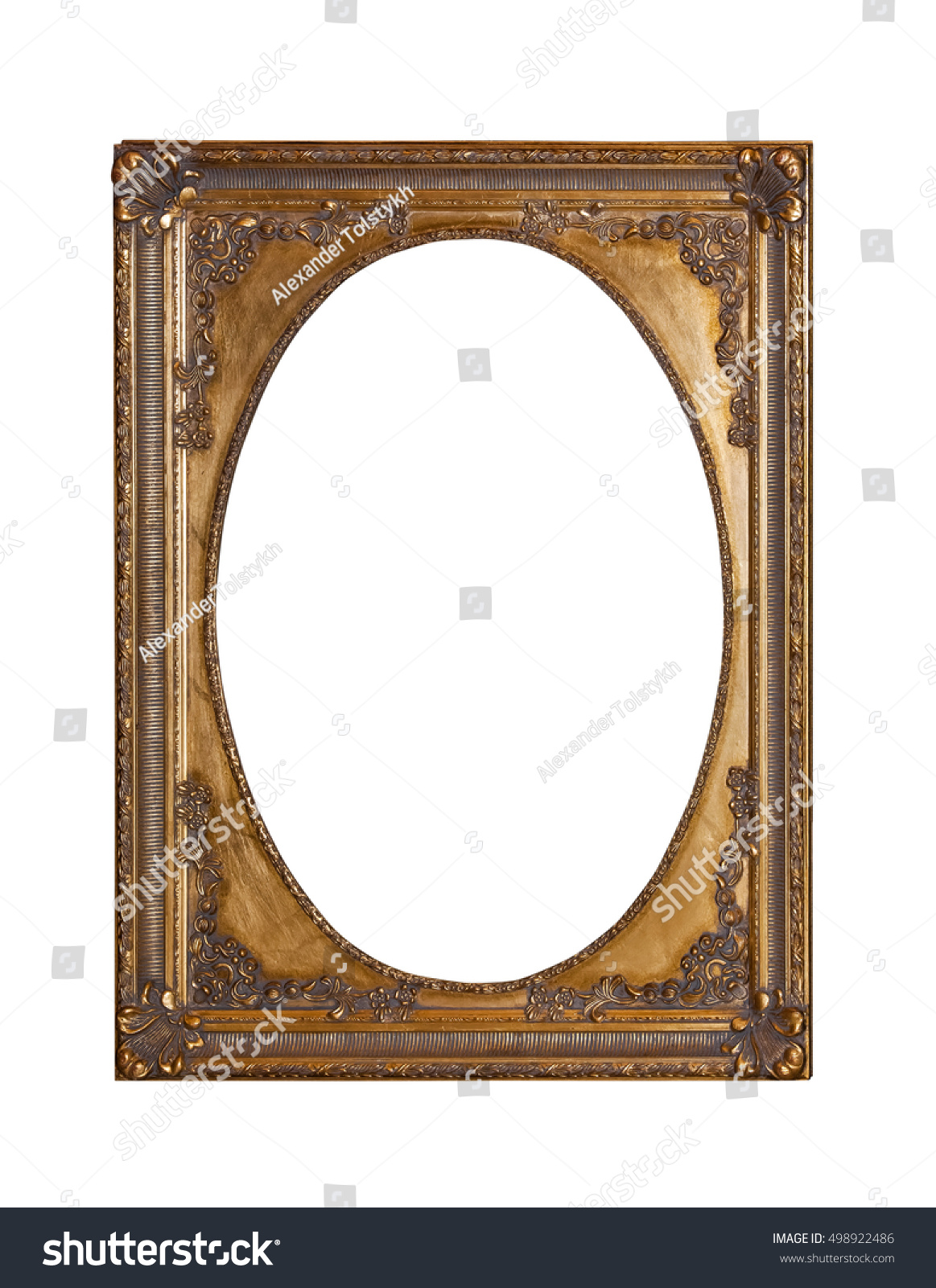 Golden frame for paintings, mirrors or photos | EZ Canvas