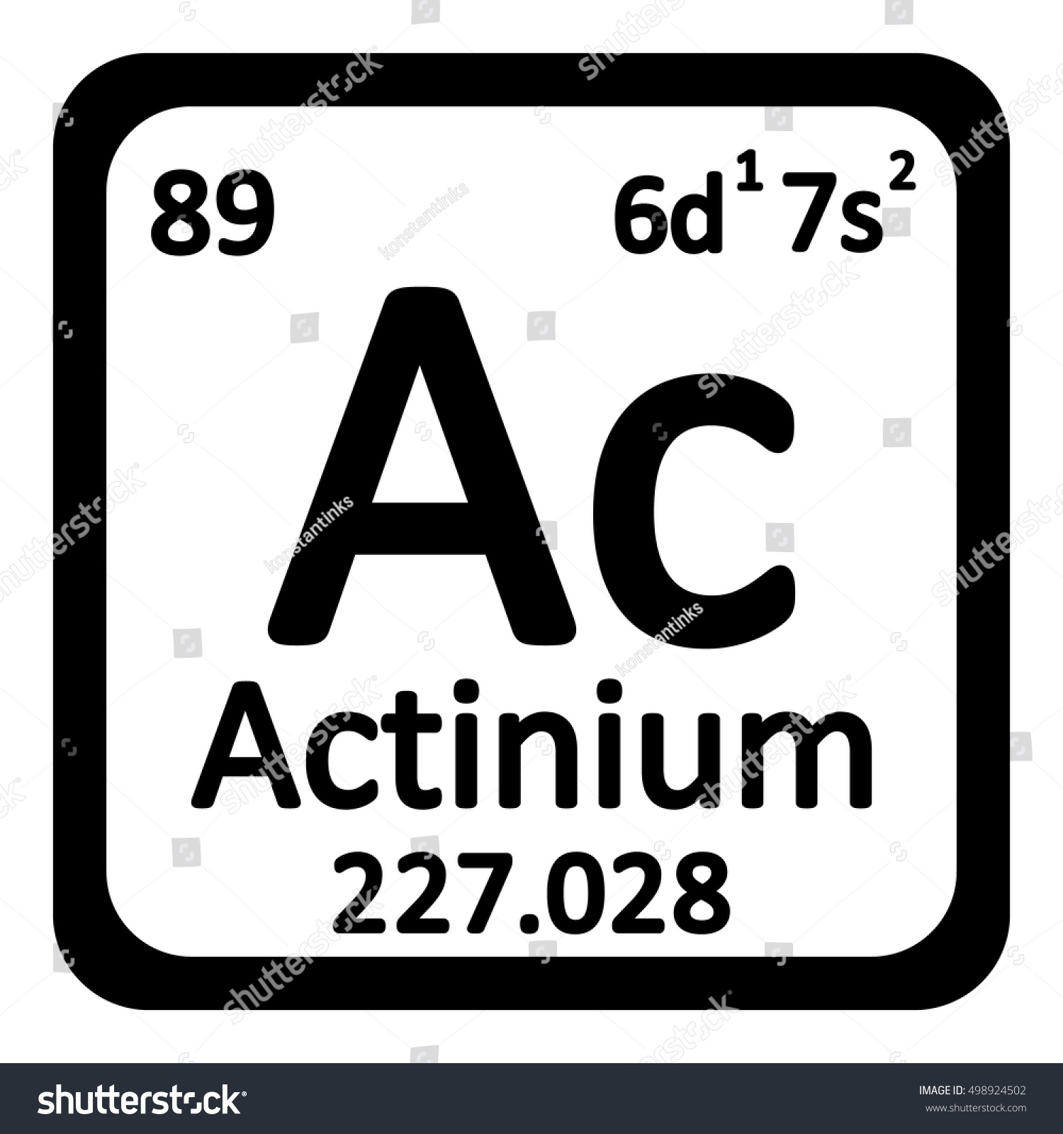 Periodic table element actinium icon on stock vector 498924502 periodic table element actinium icon on white background vector illustration gamestrikefo Image collections