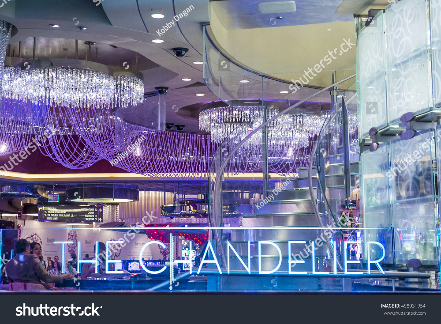 Las vegas oct 05 chandelier bar stock photo edit now shutterstock las vegas oct 05 the chandelier bar at the cosmopolitan hotel casino in aloadofball Image collections