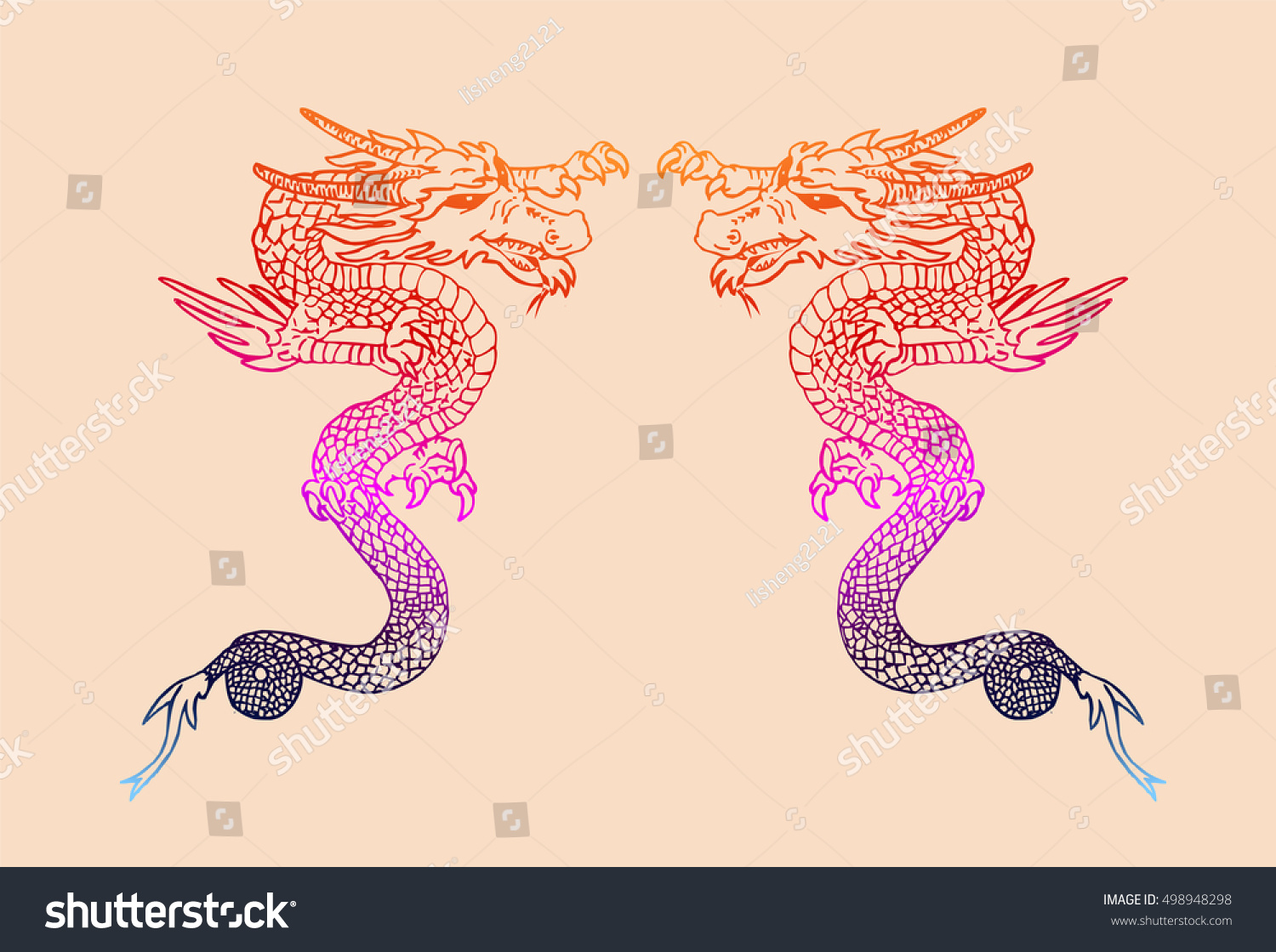 Ancient chinese dragon pattern stock vector 498948298 shutterstock ancient chinese dragon pattern buycottarizona