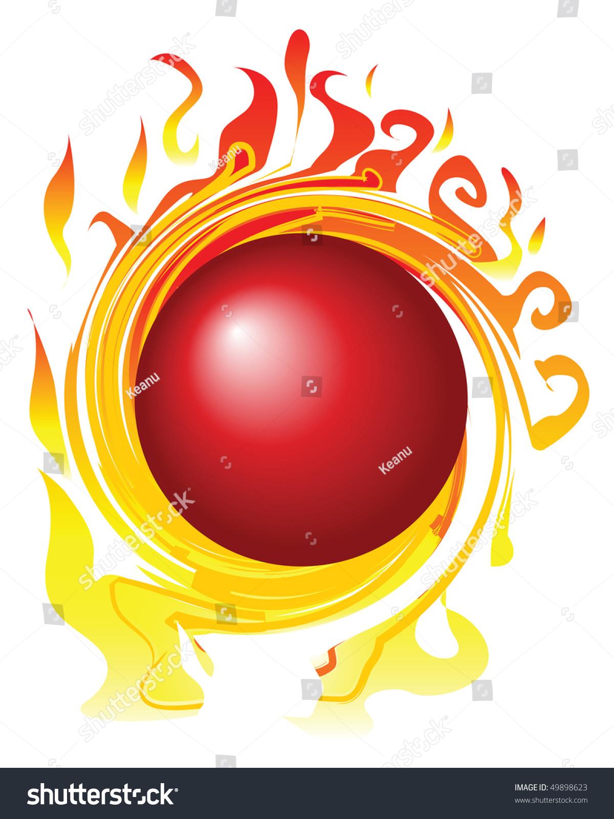 template fireball stock vector royalty free 49898623 shutterstock