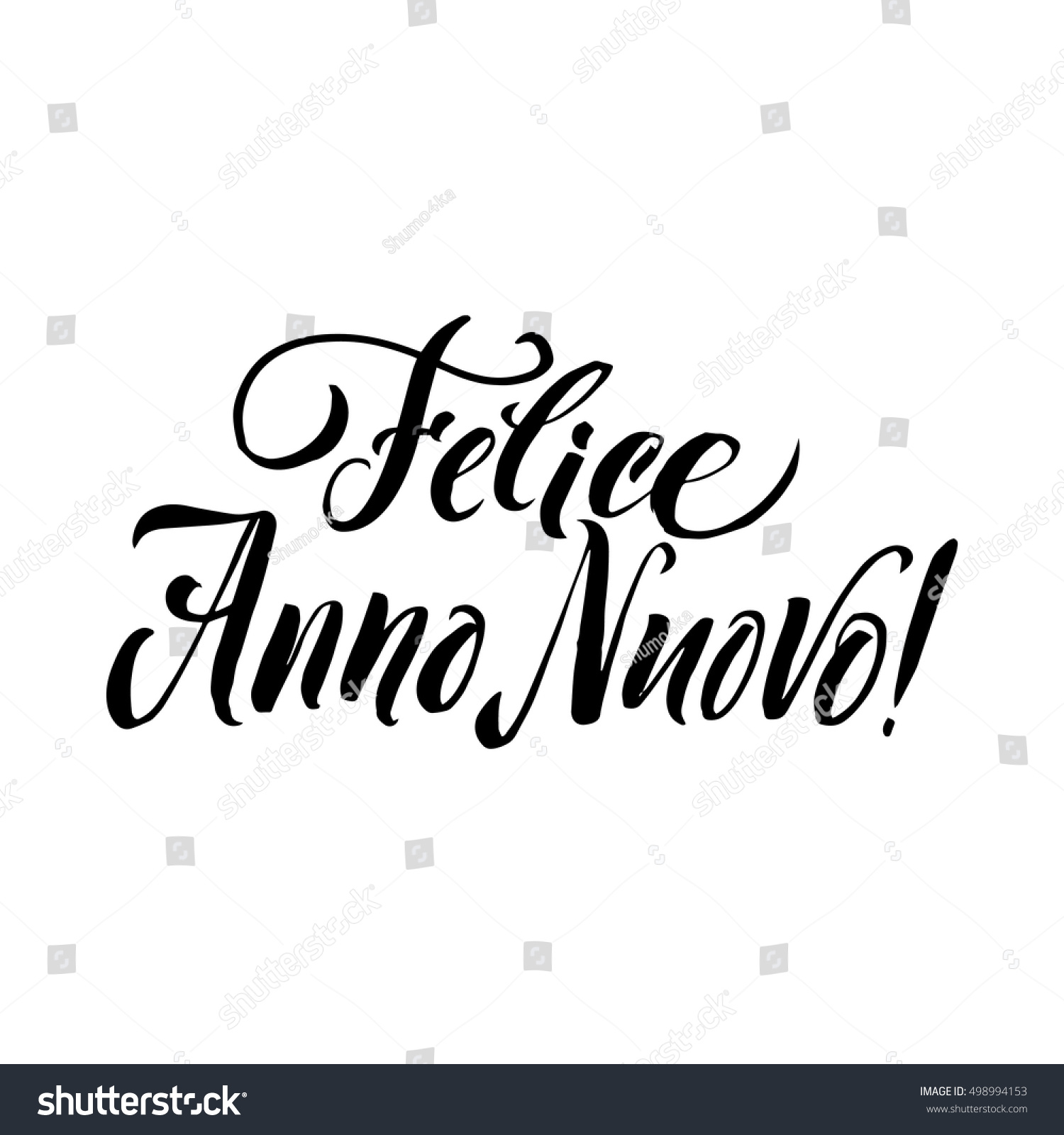 Happy new year stroke italian calligraphy stock vector royalty free happy new year stroke italian calligraphy greeting card black typography on white background m4hsunfo