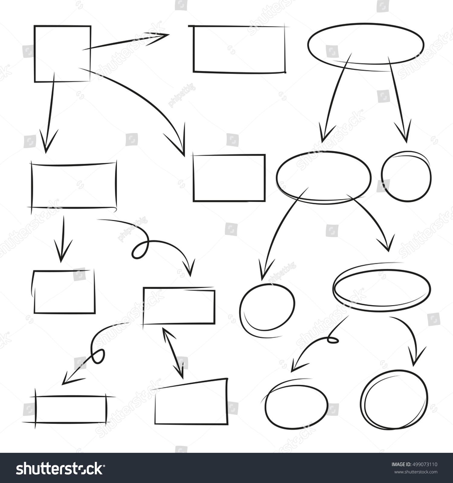 Hand drawn arrows circle rectangle flowchart stock vector hand drawn arrows circle and rectangle for flowchart diagram nvjuhfo Gallery