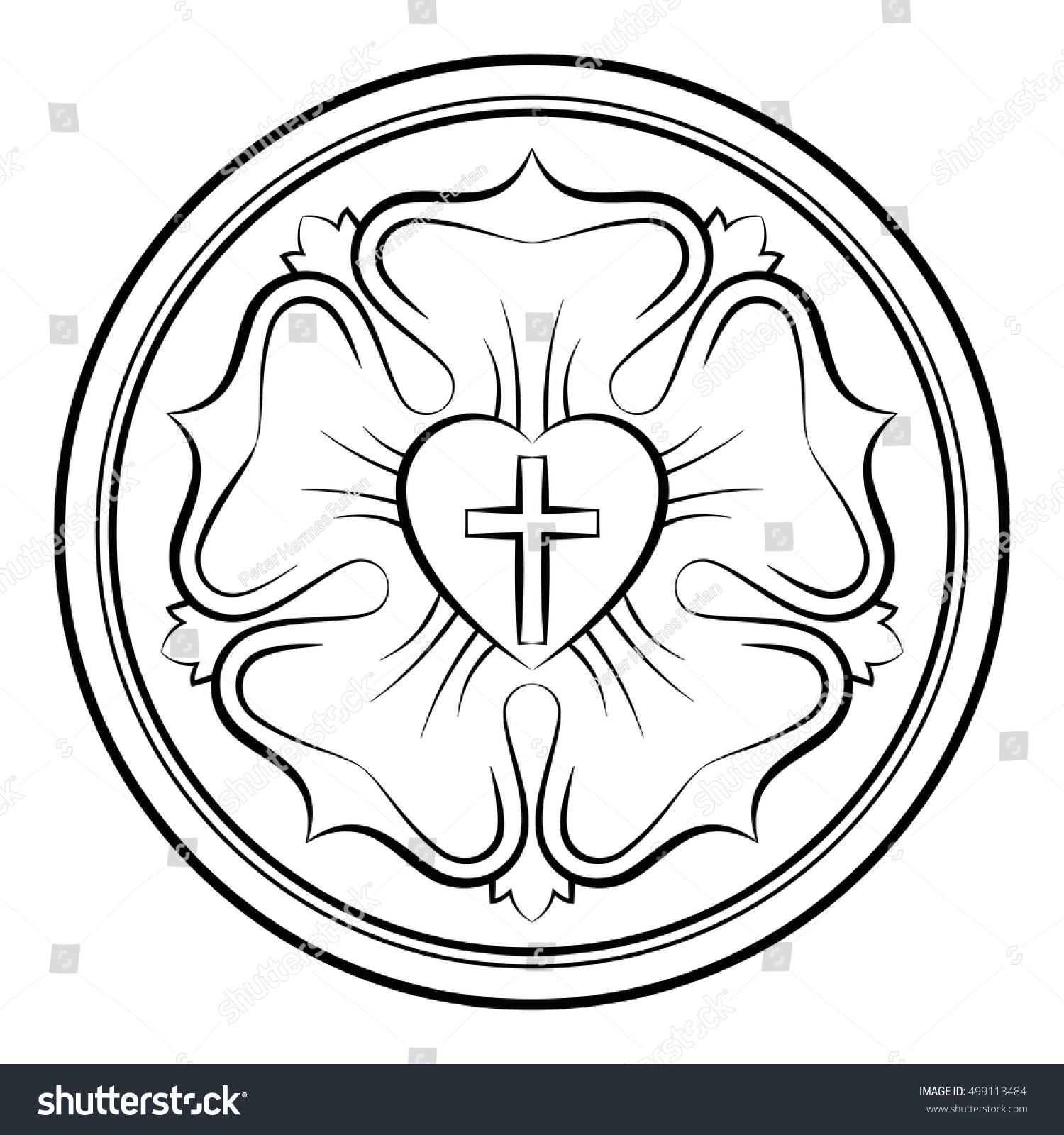 Luther rose called luther seal symbol stock vector 499113484 luther rose also called luther seal a symbol of lutheranism calligraphic black buycottarizona Choice Image