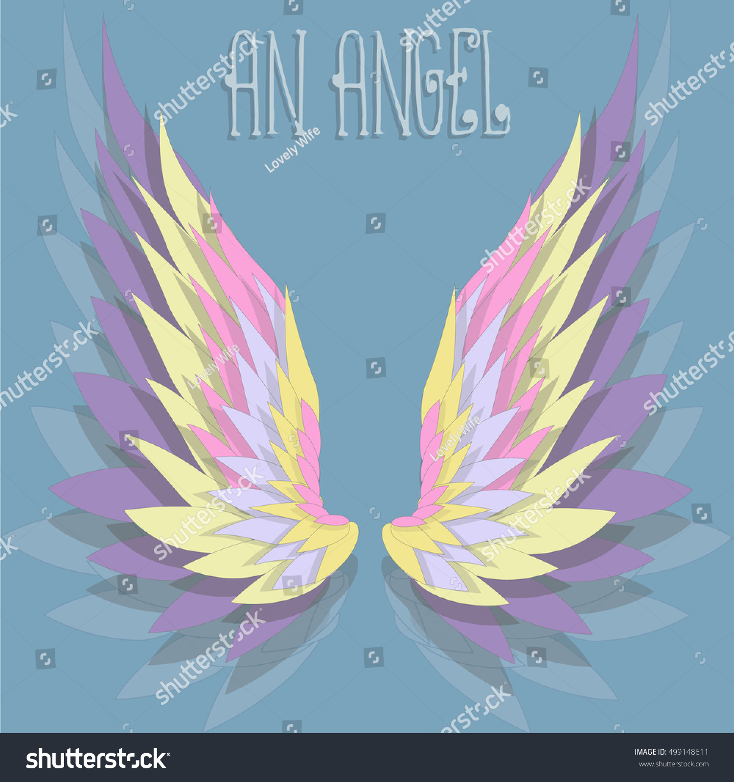 Background Color Angel Wings Vector Illustration Stock Vector ...
