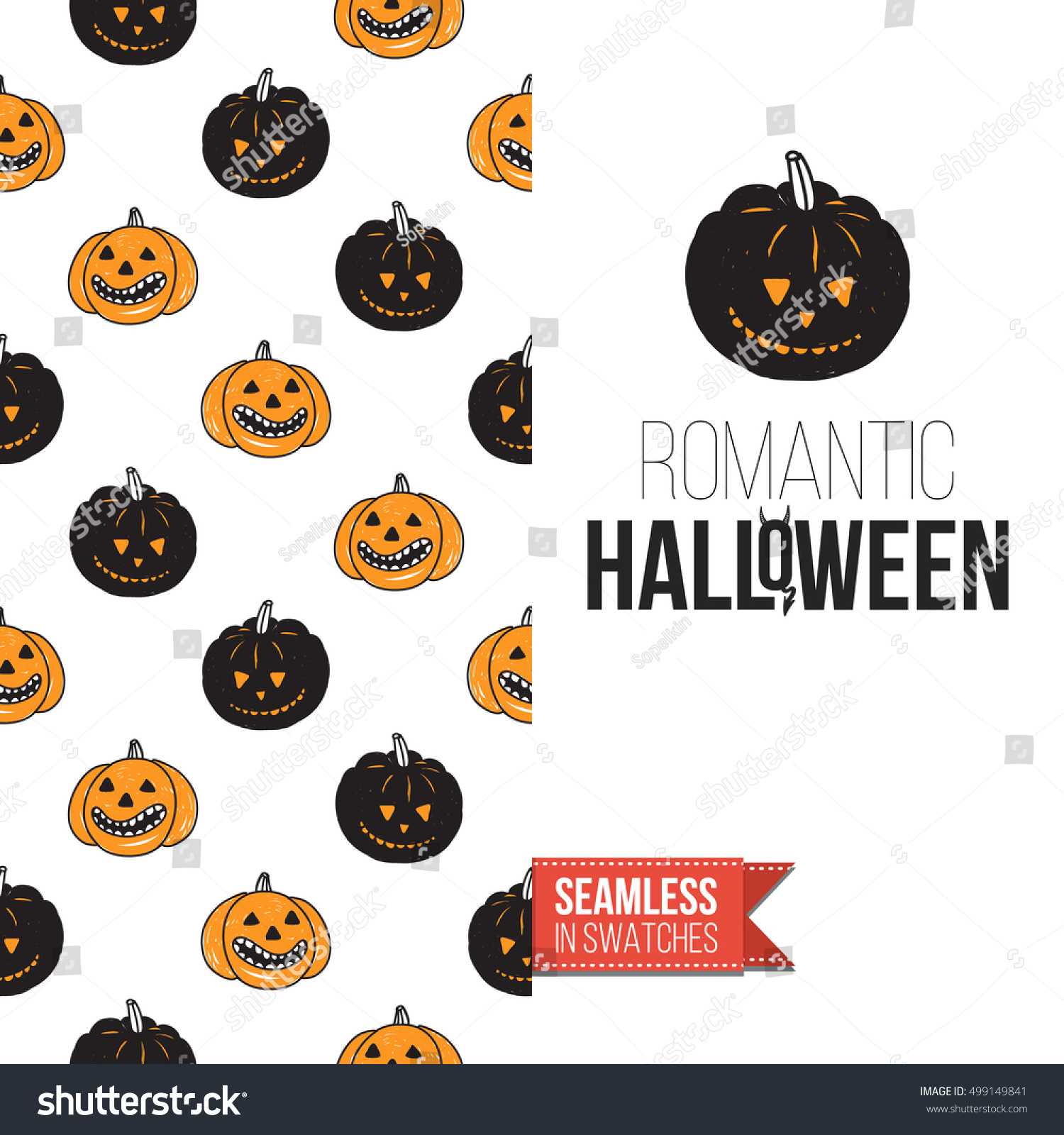 Minimalistic Style Greeting Card For Halloween Inspired By Spooky
