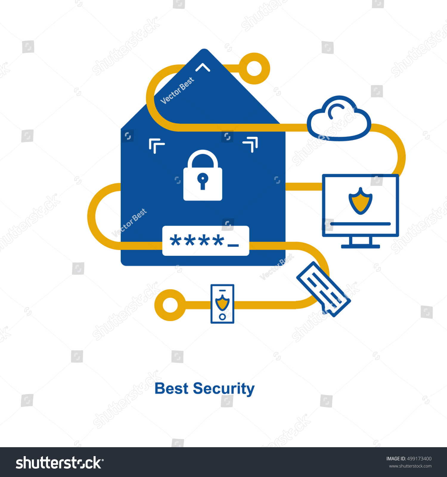 Security Concept Entering System Code Stock Vector Royalty House Icon Graphic Combination Pin Password