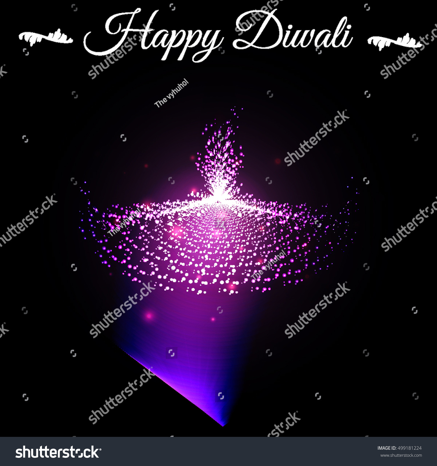 Vector Happy Diwali Cards Abstract Stars Stock Vector Royalty Free