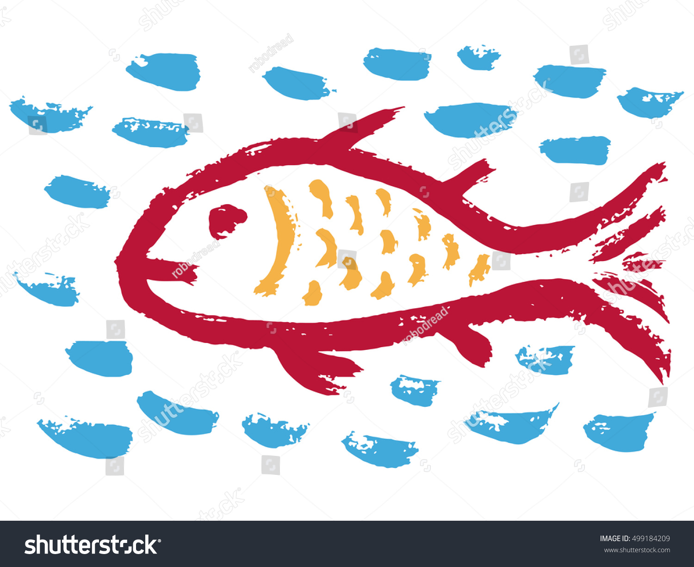 Fish christian religious symbol stock vector 499184209 shutterstock fish christian religious symbol buycottarizona