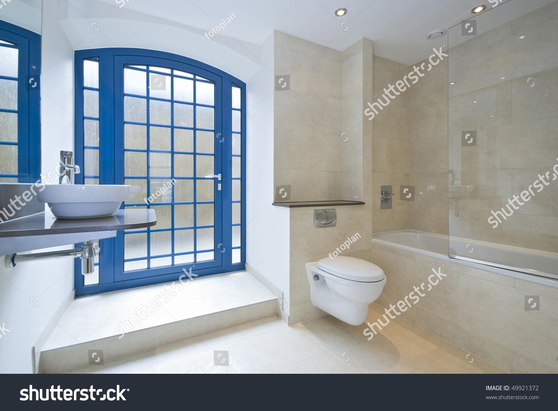 Luxurious Bathroom Detail Designer Ceramic Wash Stock Photo (Royalty ...