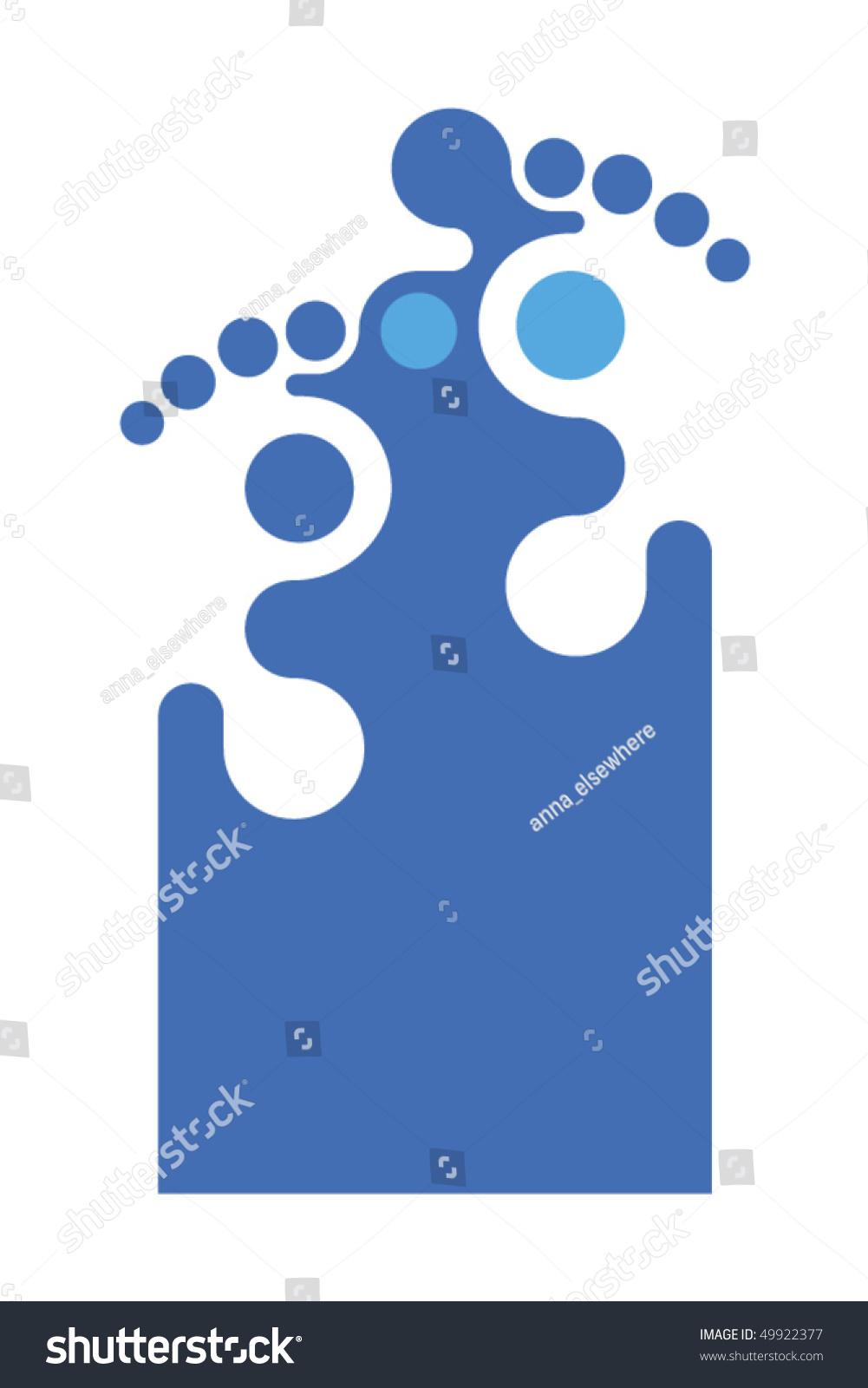 Foot Related Symbol Make Modern Logo Stock Vector Royalty Free