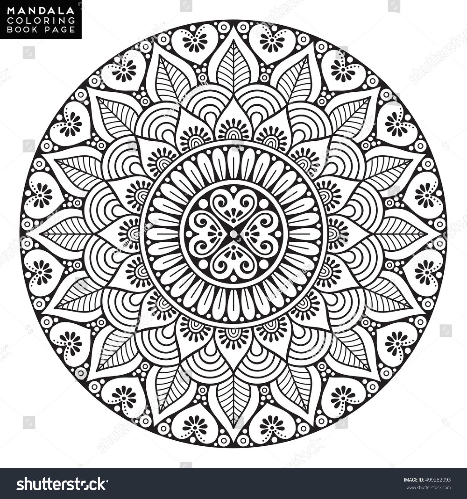 Flower Mandala Vintage Decorative Elements Oriental Stock Vector 499282093