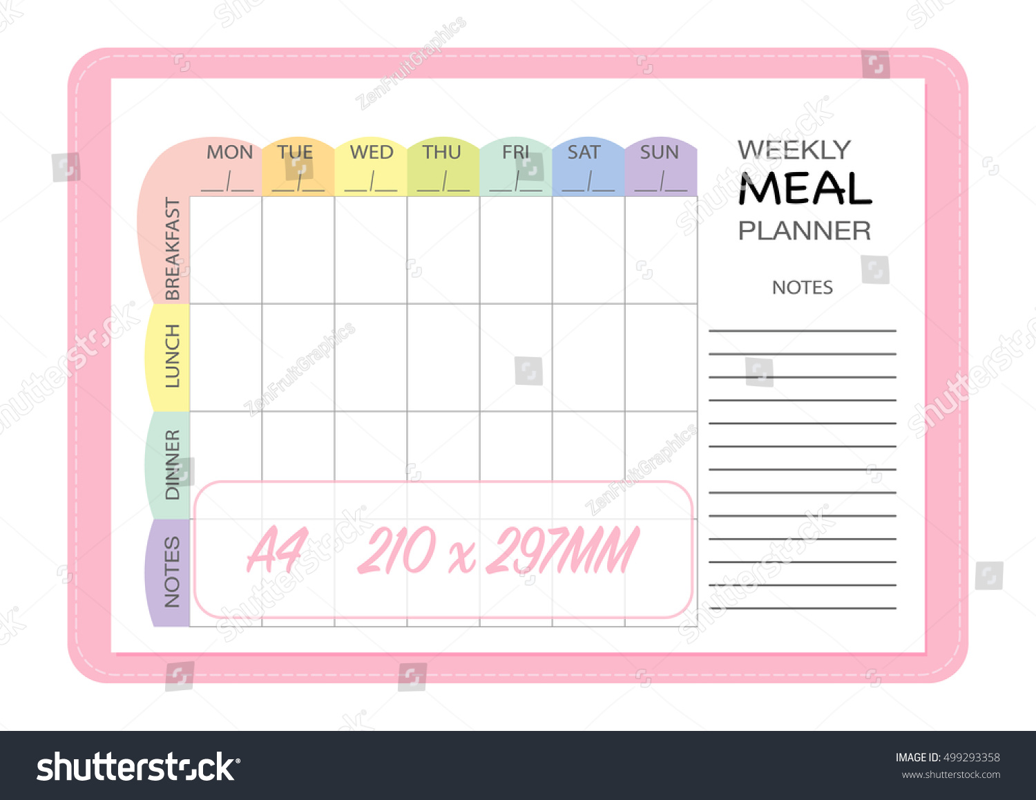 magnificent meal plan chart template pictures example