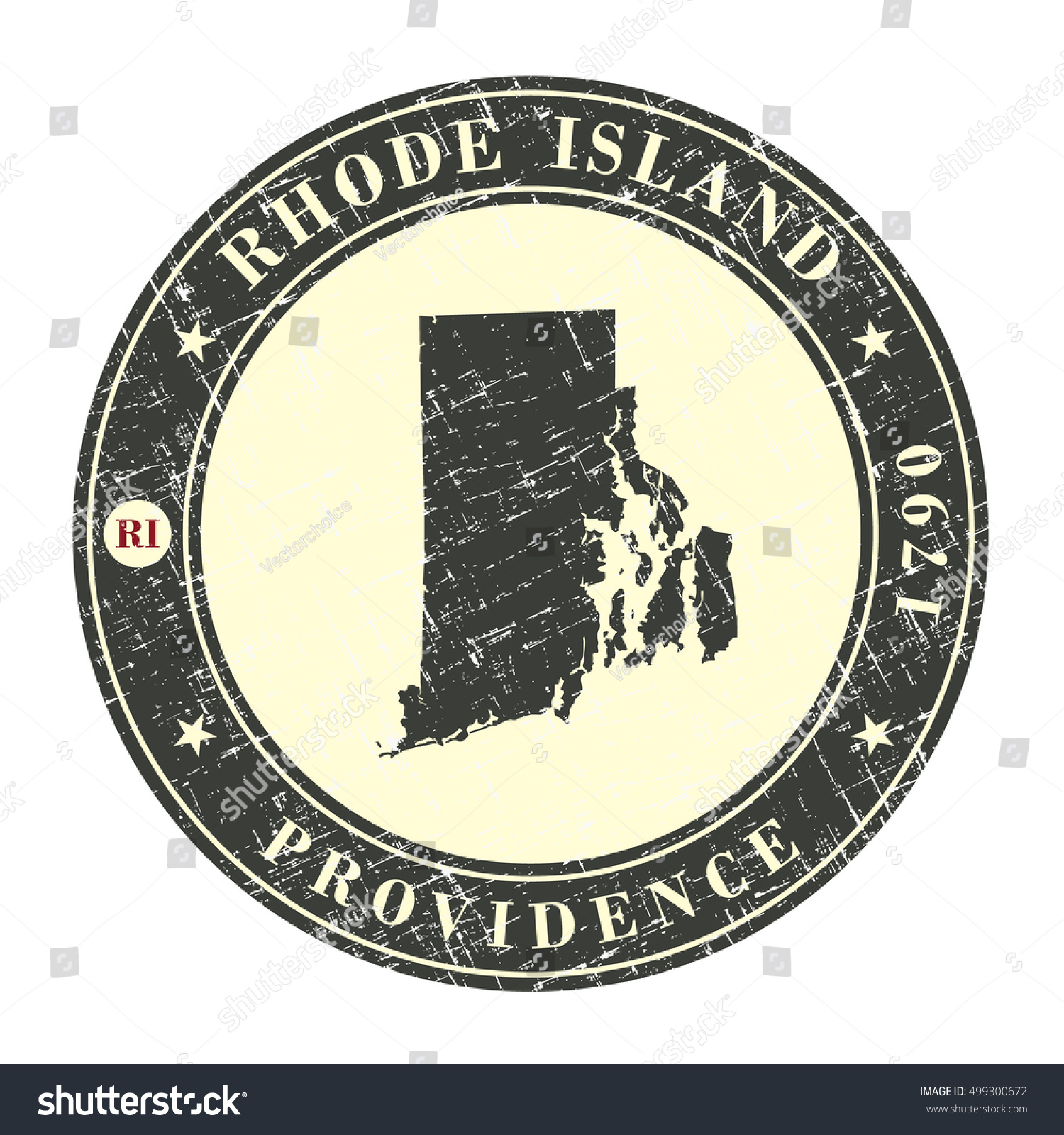 Vintage stamp map rhode island stylized stock vector 499300672 vintage stamp with map of rhode island stylized badge with the name of the state biocorpaavc Choice Image