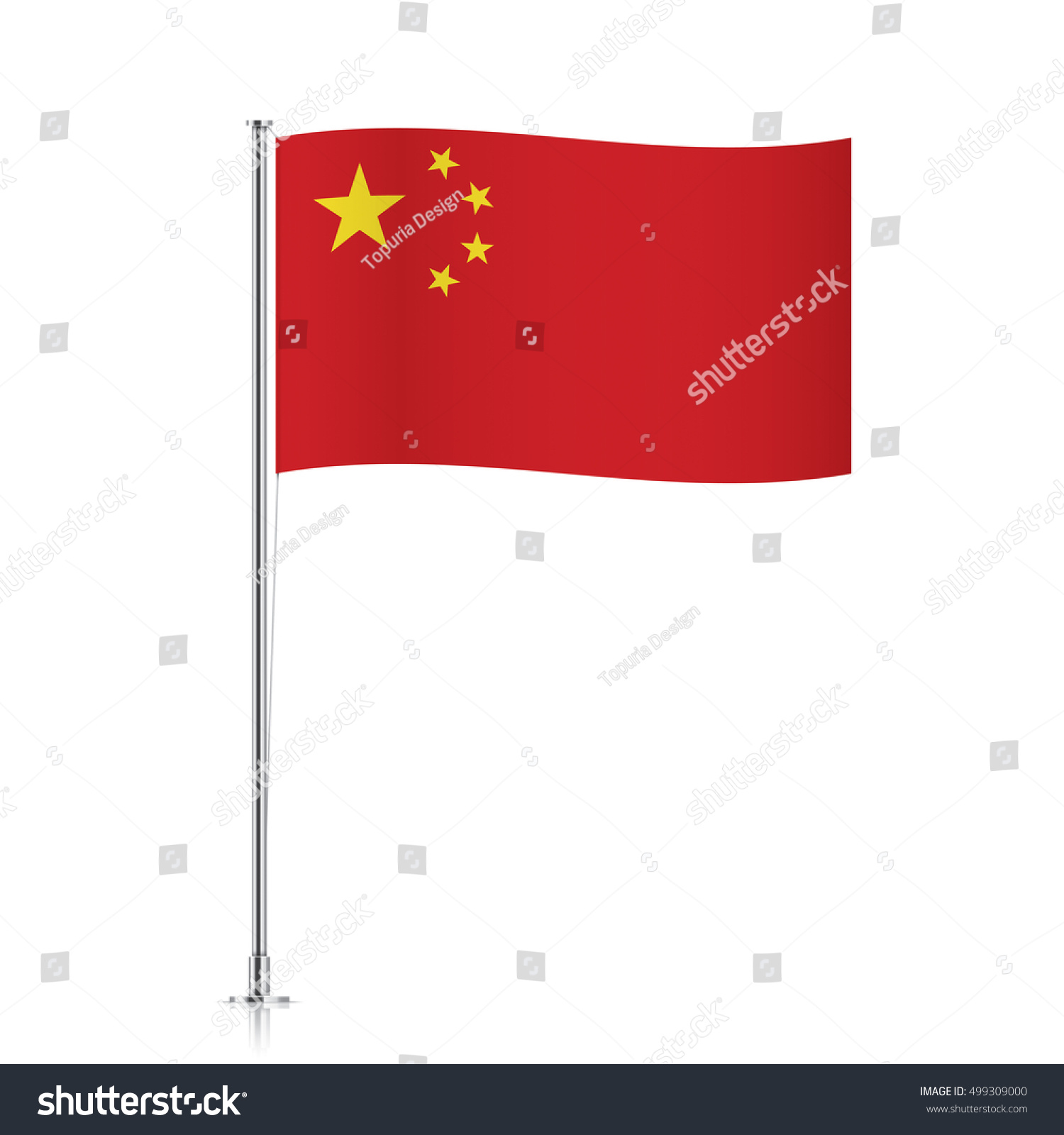 chinese vector flag template waving flag stock vector 499309000, Powerpoint templates