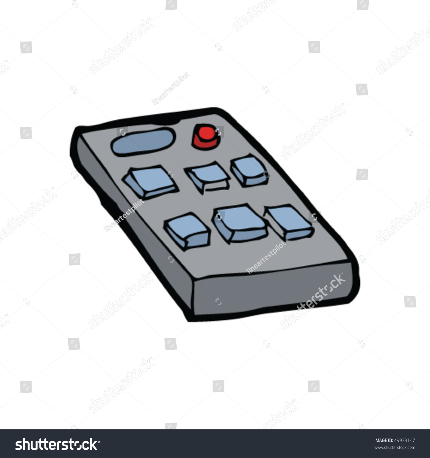 remote control drawing. quirky drawing of a remote control i