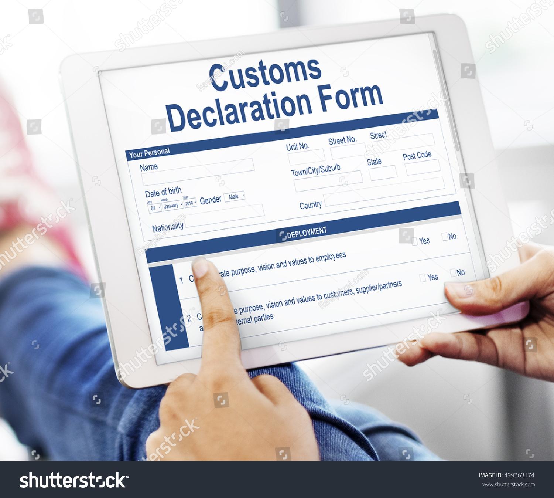 Customs declaration form invoice freight parcel stock photo edit customs declaration form invoice freight parcel concept altavistaventures Choice Image