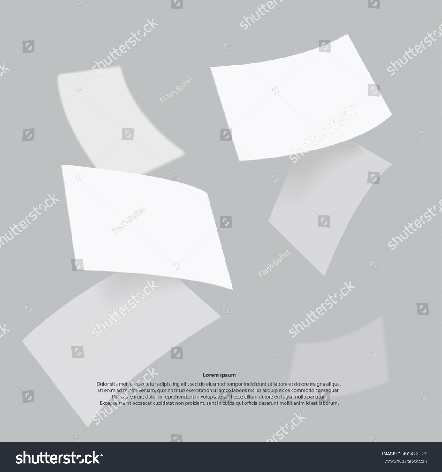 Falling Realistic Business Cards Template Vector Stock Vector HD ...