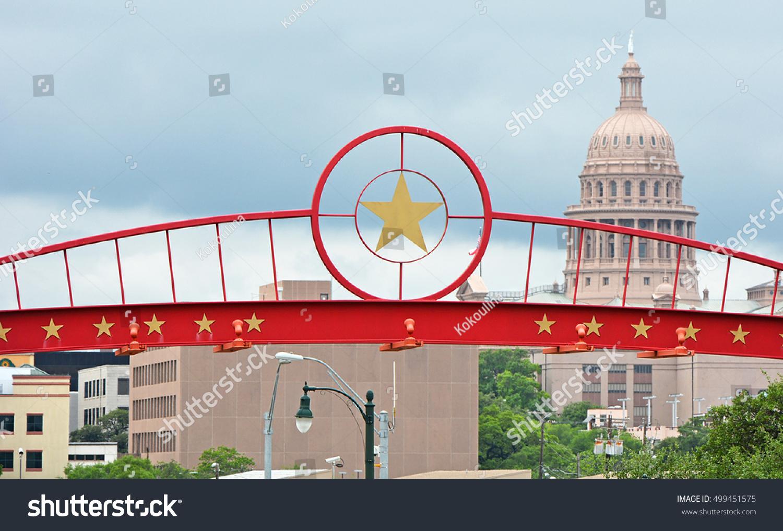 Red star symbol texas state capitol stock photo 499451575 red star symbol of texas state with capitol on background austin tx buycottarizona Images