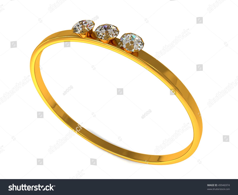 Golden Ring Diamonds Stock Illustration 49946974 - Shutterstock