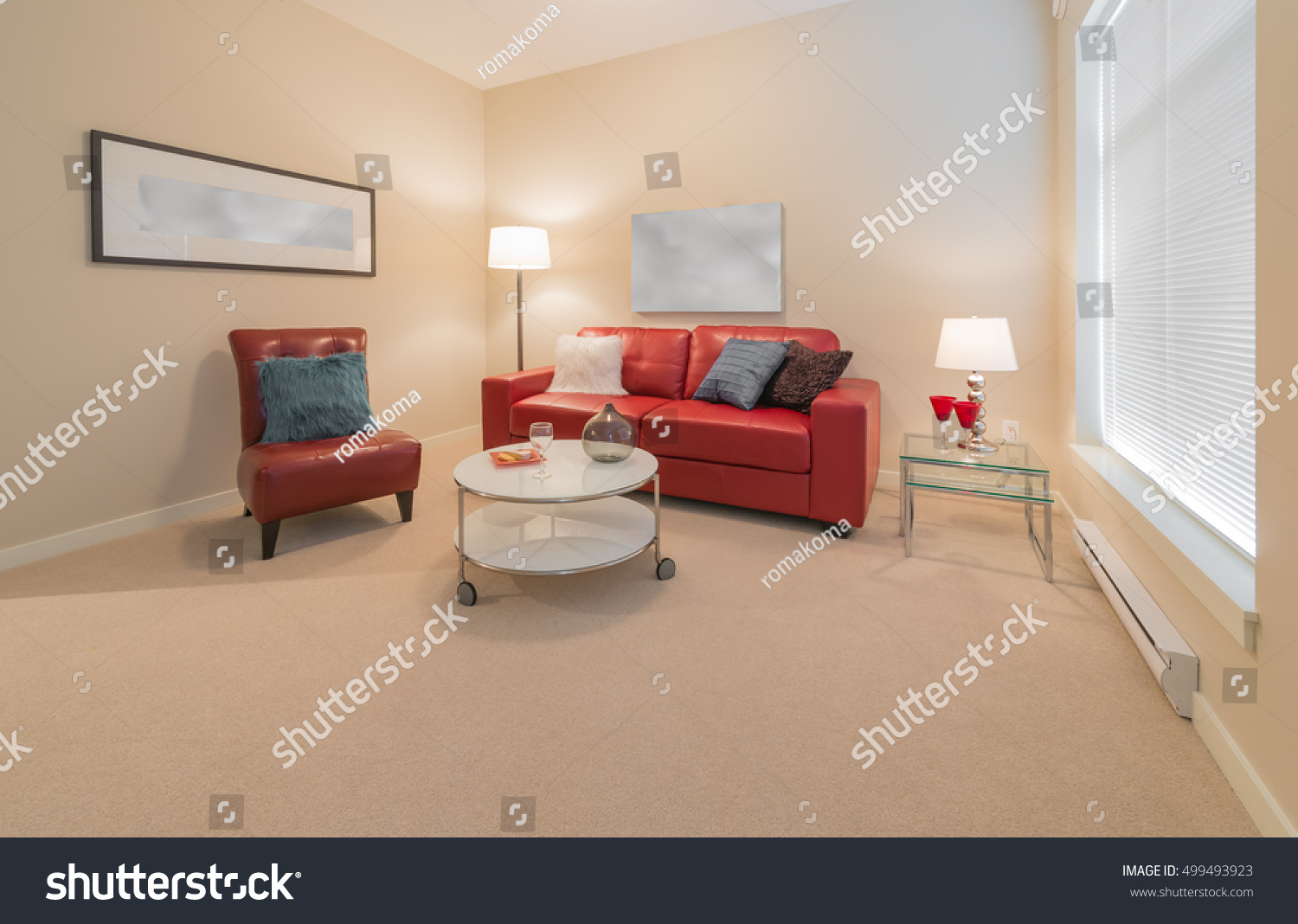 Luxury Living Suite Nicely Decorated Modern Stock Photo 499493923 ...