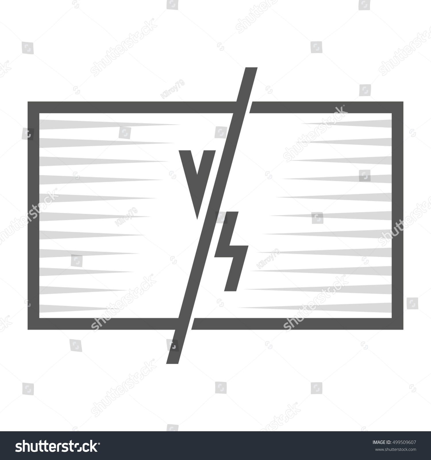 Versus Fight Screen Frame Places Photos Stock Illustration 499509607 ...