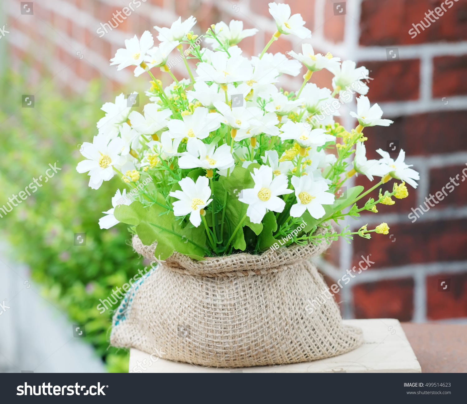 Beautiful Artificial Flowers Stock Photo Royalty Free 499514623