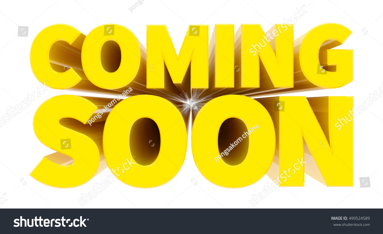 COMING SOON Yellow Word On White Stock Illustration 499524589 ...