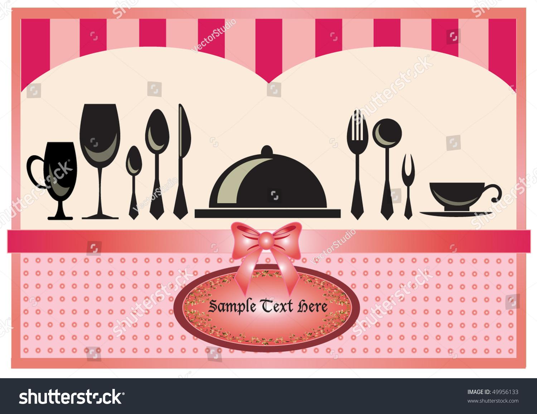 Restaurant menu invitation card pink background stock photo photo restaurant menu or invitation card in pink background design stopboris Images