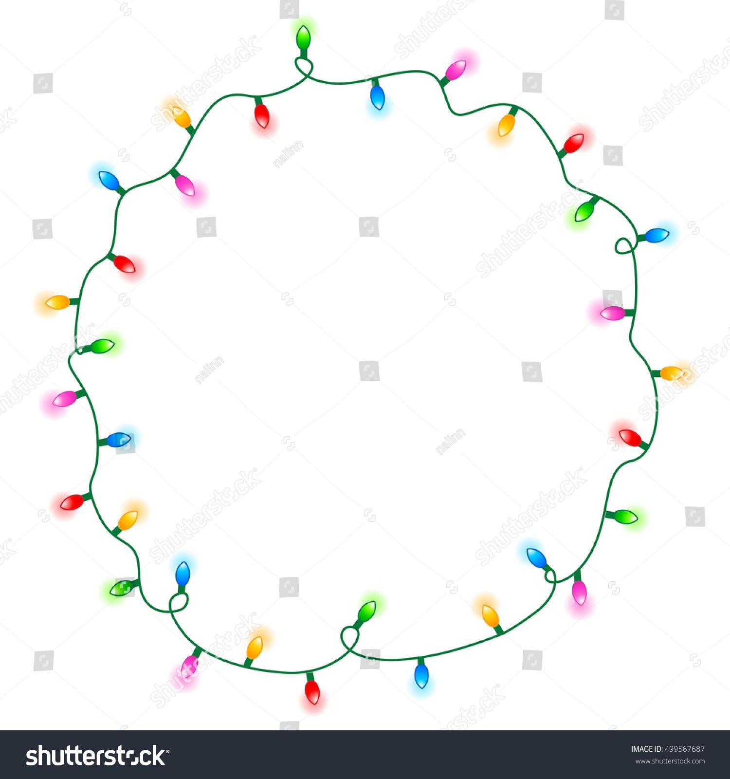 christmas lights vector border ez canvas - Christmas Light Border