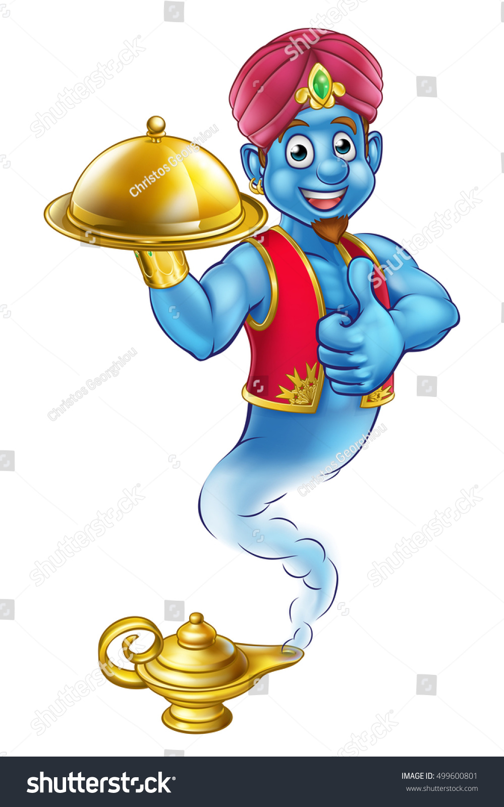 Cartoon Genie Like Story Aladdin Coming Stock Illustration 499600801 ... for genie coming out of lamp aladdin  59nar