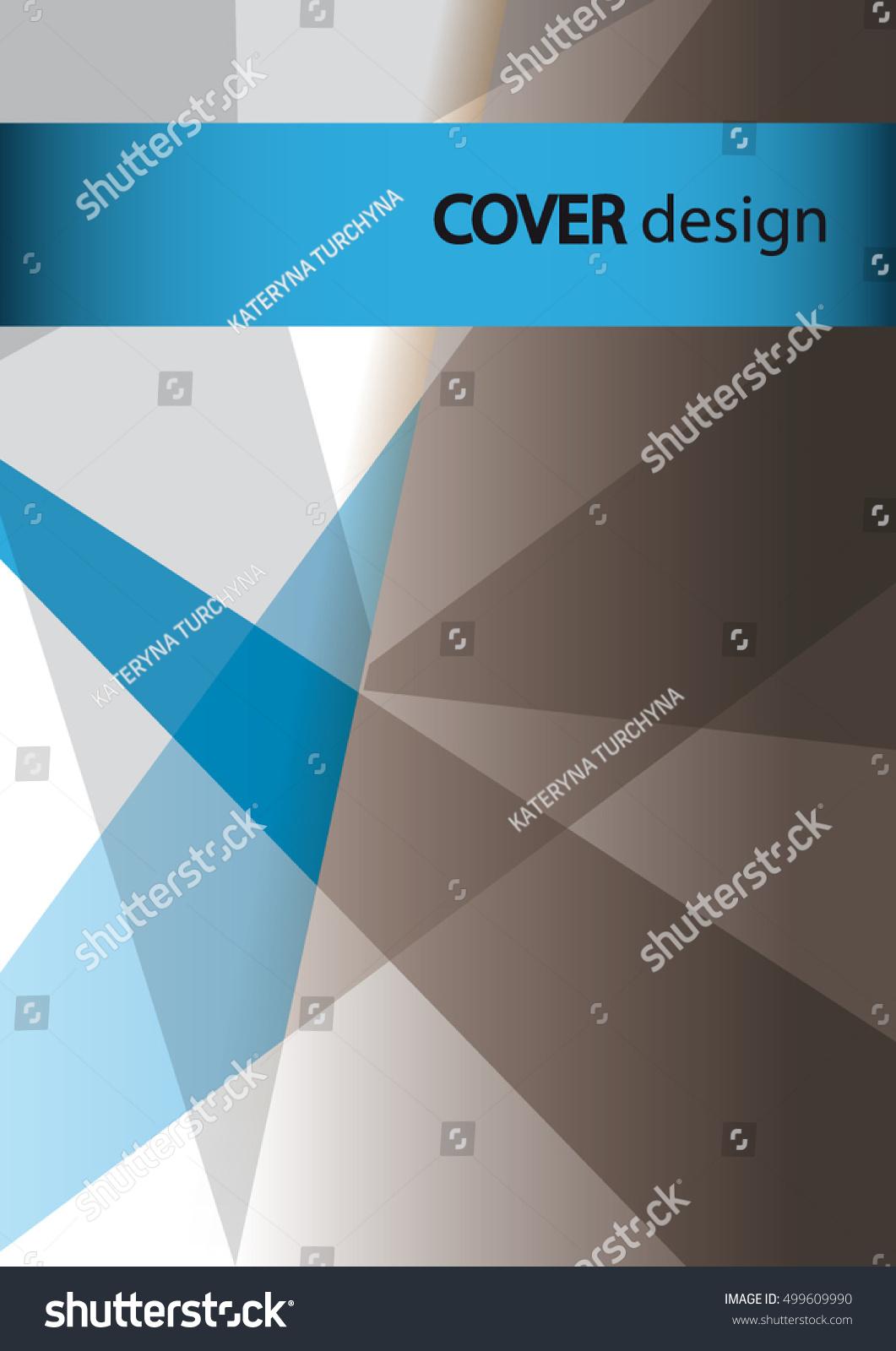 cover design business brochure cover template stock vector, Presentation templates
