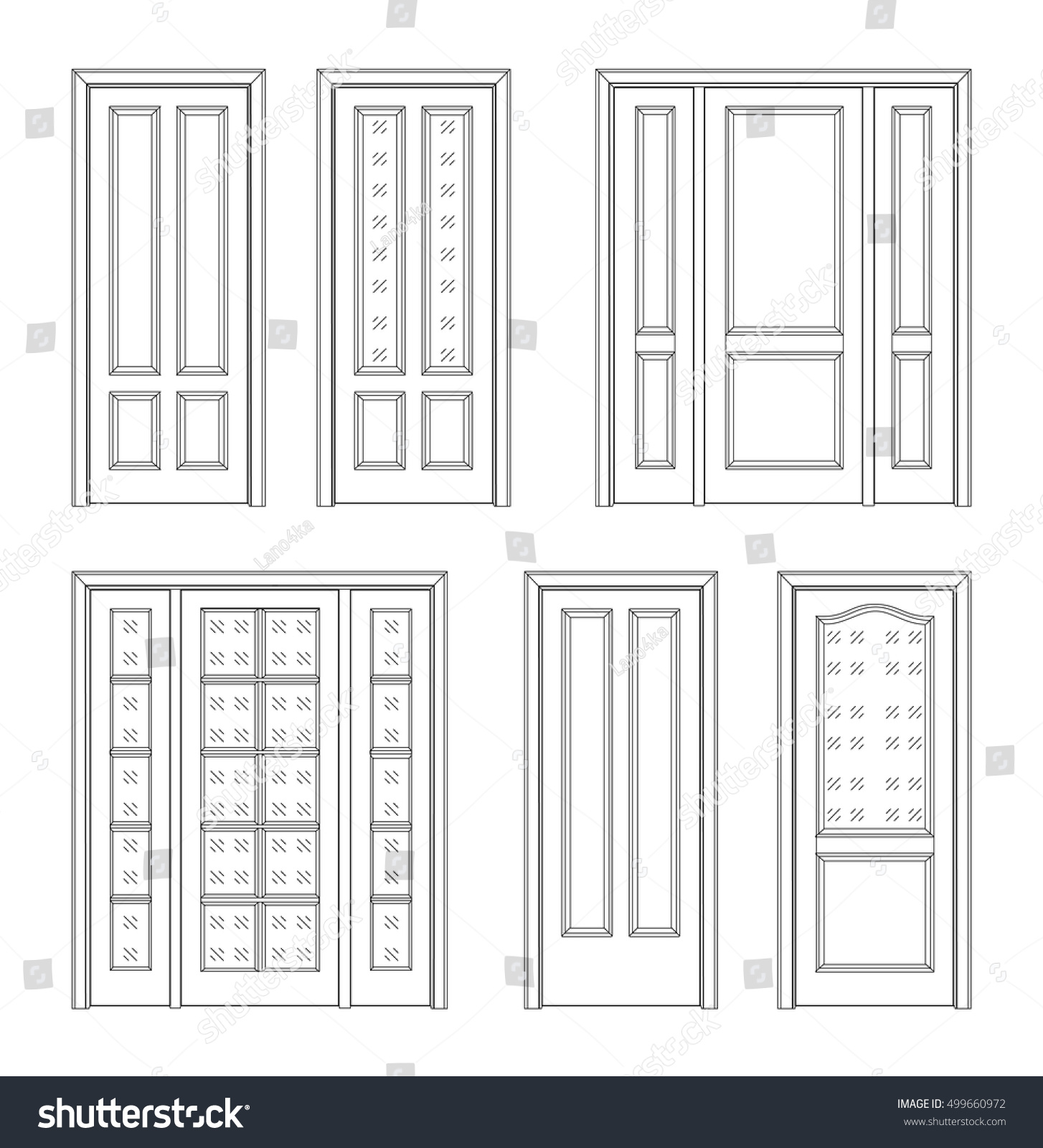 Simple door drawing - Collection Interior Doors Technical Drawing Classic Interior Doors Simple Sketch For Your Design