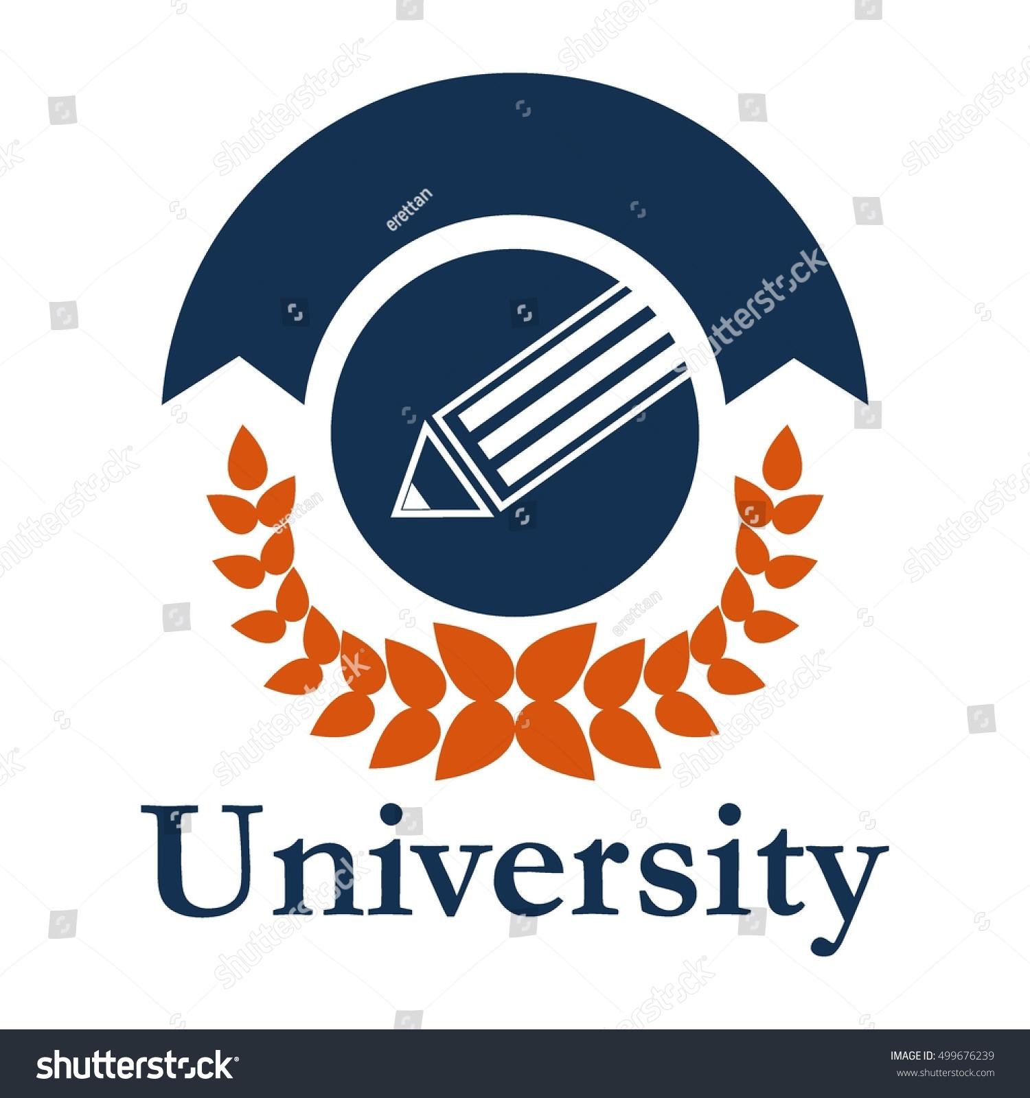 university logo school badge education logo stock vector