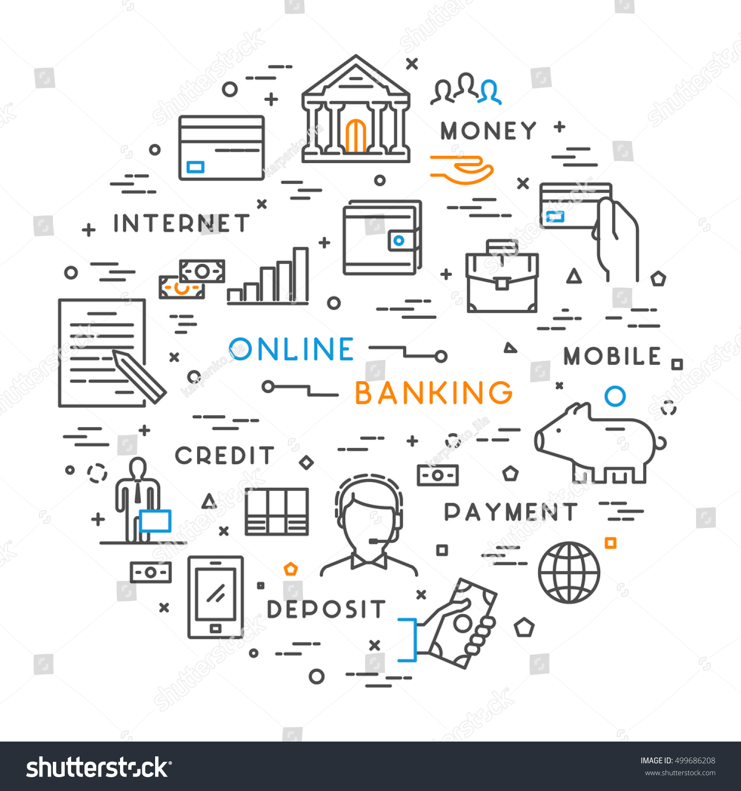 Line concept banking modern linear symbol stock illustration line concept for banking modern linear symbol for investment biocorpaavc Gallery
