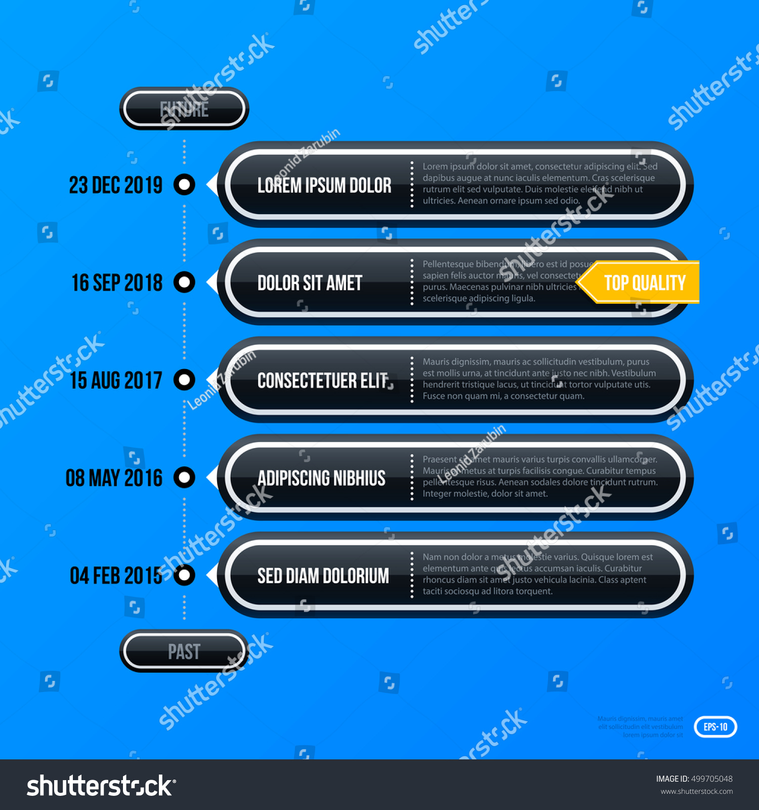 Corporate Business Timeline Template On Bright Stock Vector - Business timeline template