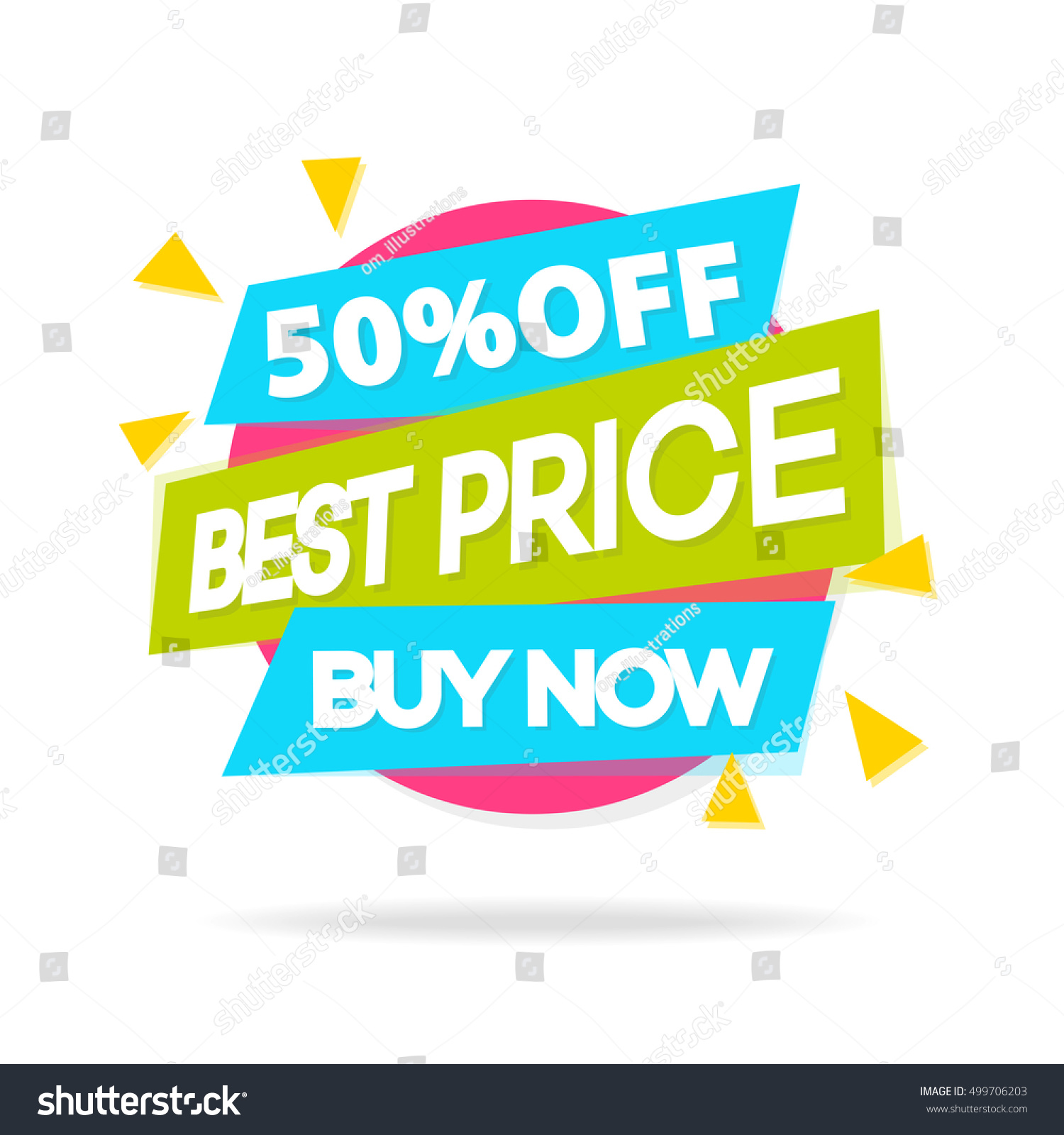 Buy It Now: Sale Banner Sign Best Price Buy Stock Vector 499706203