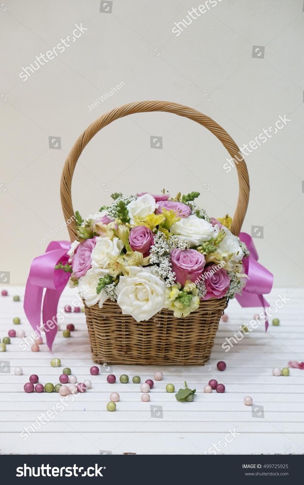 A Rose Bouquet Pink Rose Bouquet Pink Rose Basket Flower