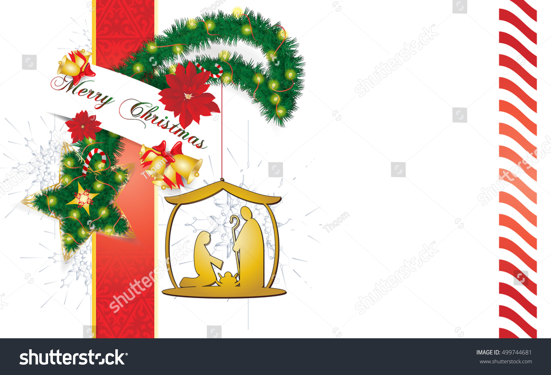 Christmas Star Background Made Pine Tree Stock Illustration ...