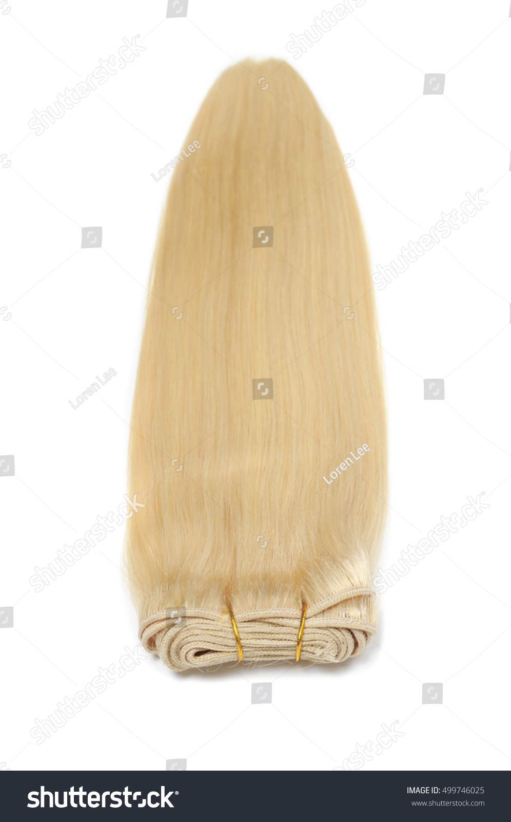 Straight Dark Blonde Human Hair Extensions Stock Photo 499746025