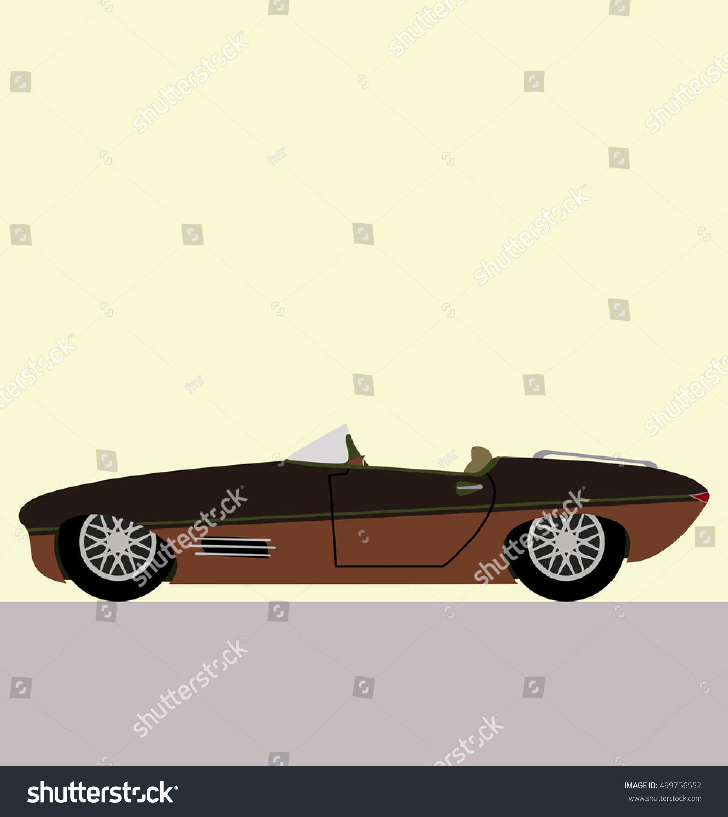 convertible modern car side view vector stock vector 499756552 shutterstock. Black Bedroom Furniture Sets. Home Design Ideas