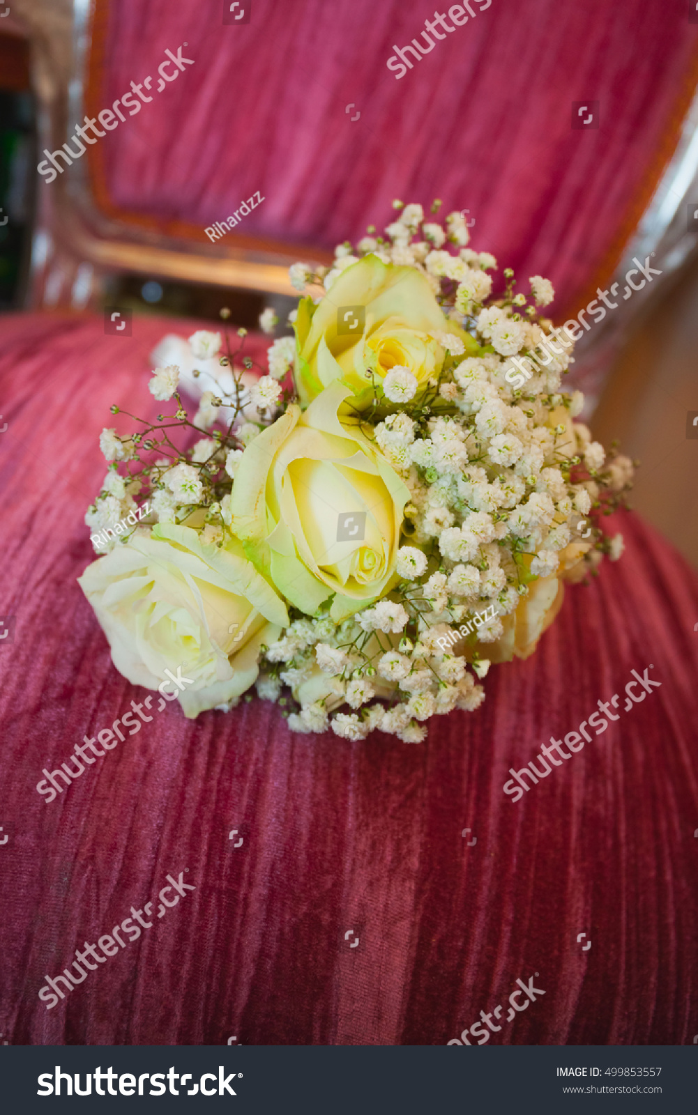 Beautiful Wedding Flowers Bouquet Yellow Roses Stock Photo Edit Now