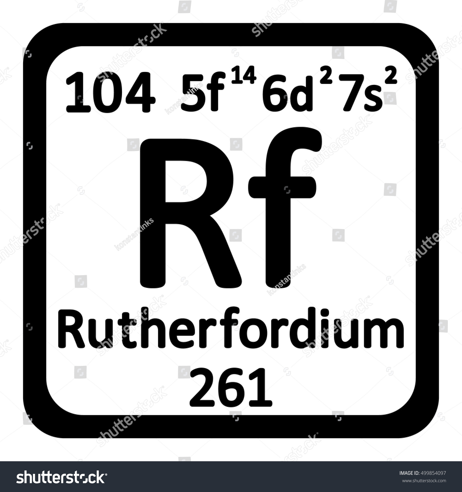 Periodic table element rutherfordium icon on stock vector periodic table element rutherfordium icon on white background vector illustration gamestrikefo Image collections