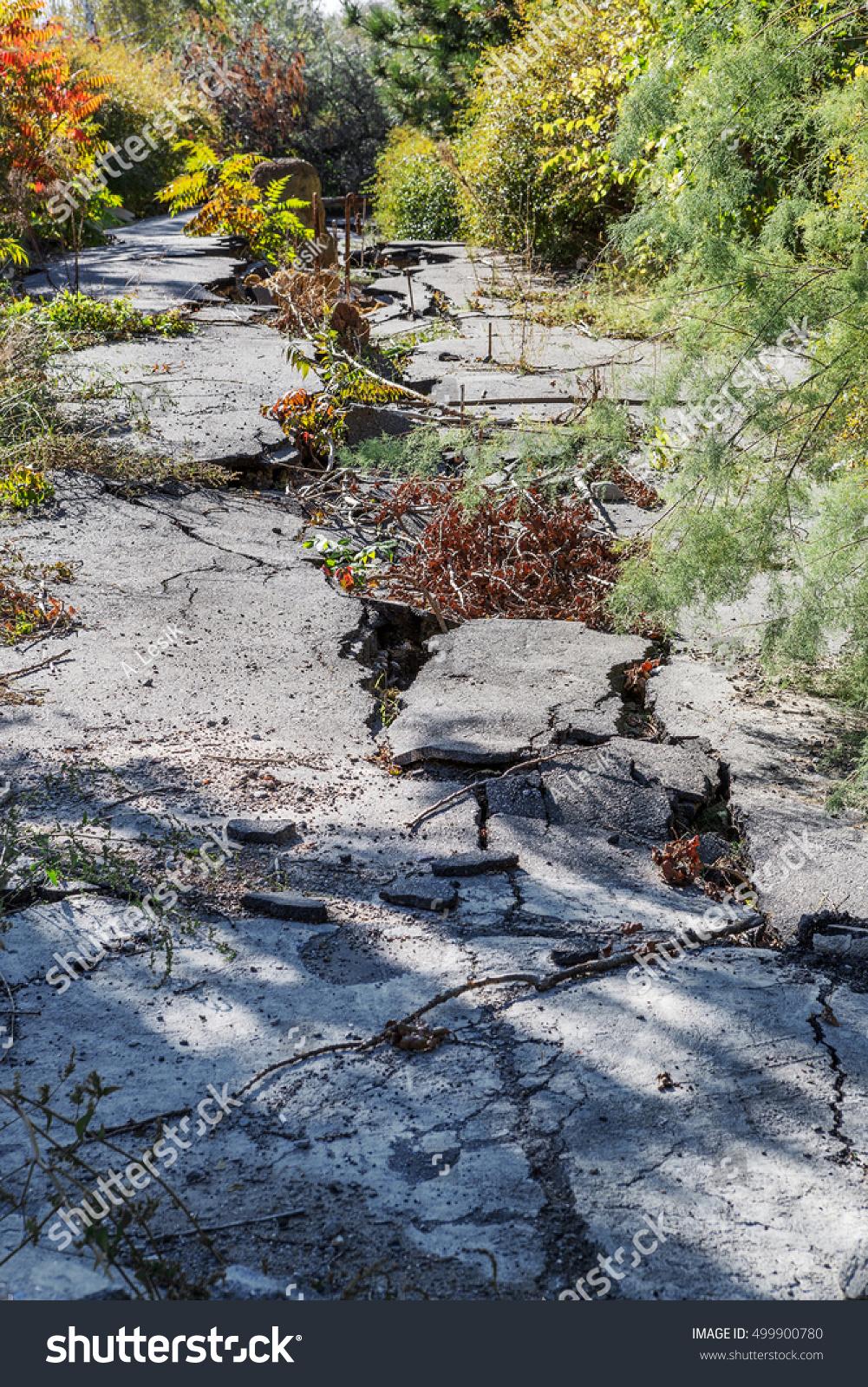 Landslide Caused By Torrential Rains Hurricane Stock Photo ...