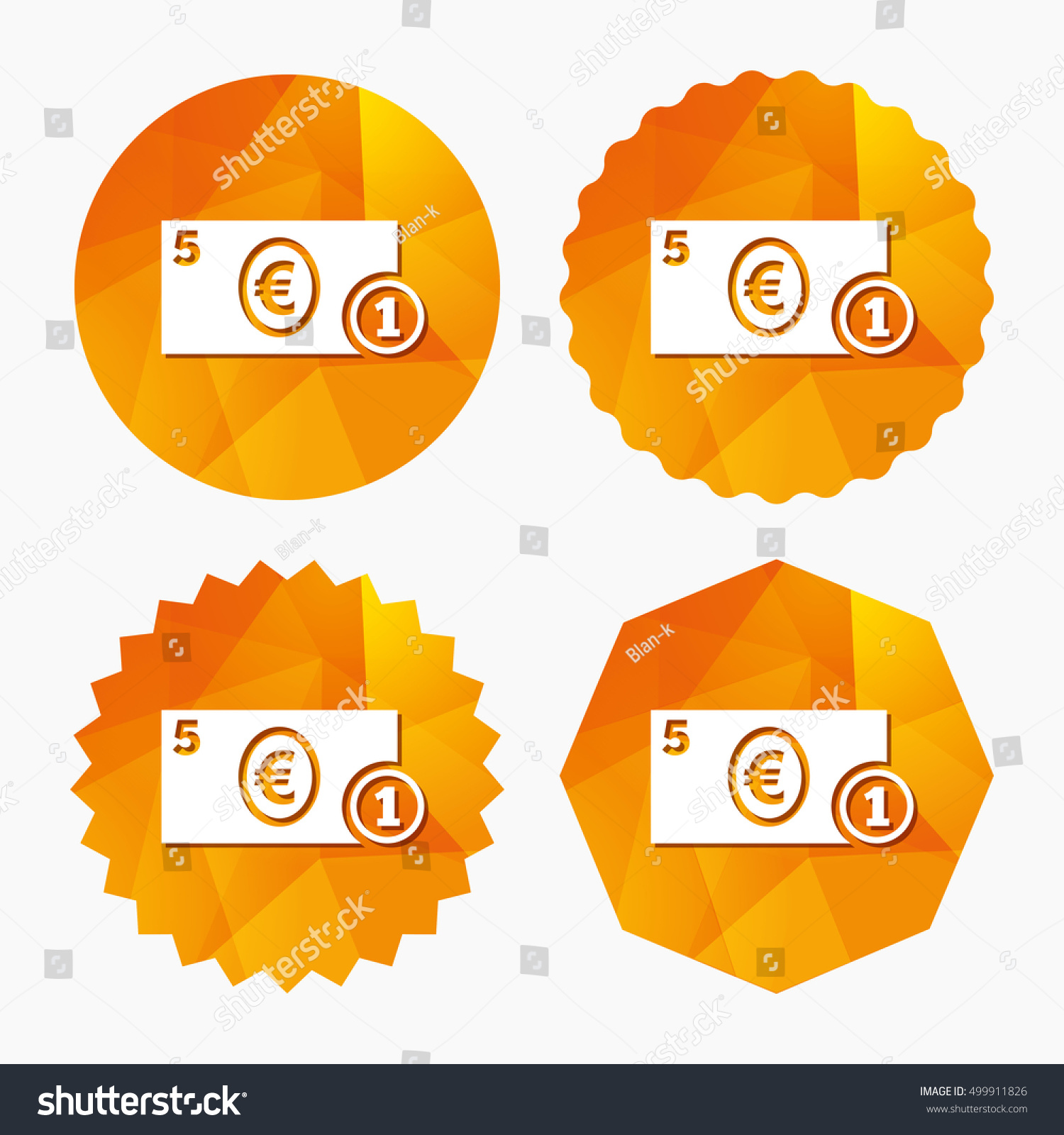 Cash sign icon euro money symbol stock vector 499911826 shutterstock cash sign icon euro money symbol eur coin and paper money triangular low buycottarizona Gallery