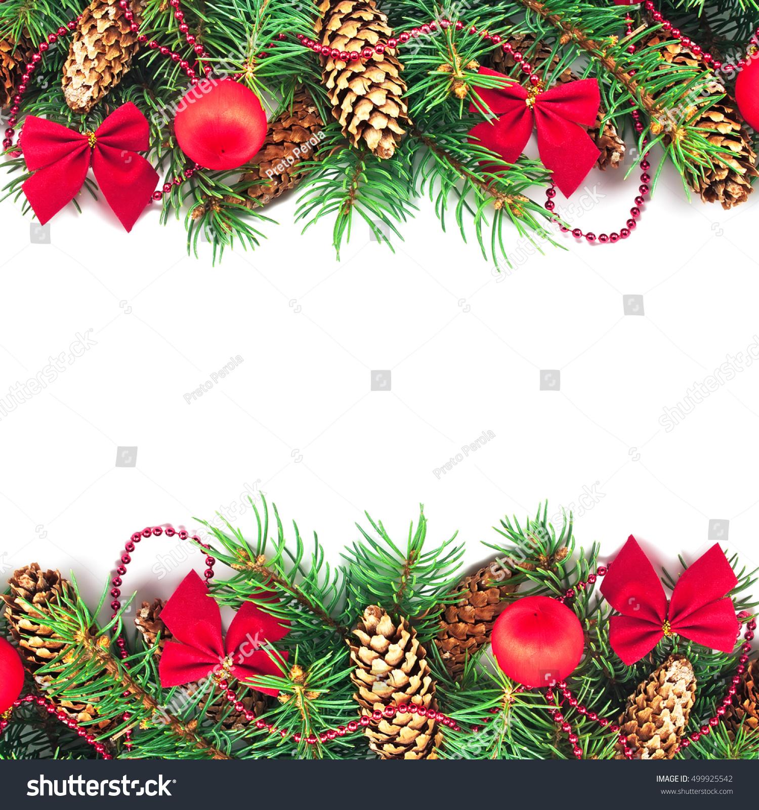 Christmas Decoration On White Background Stock Photo (Edit Now ...