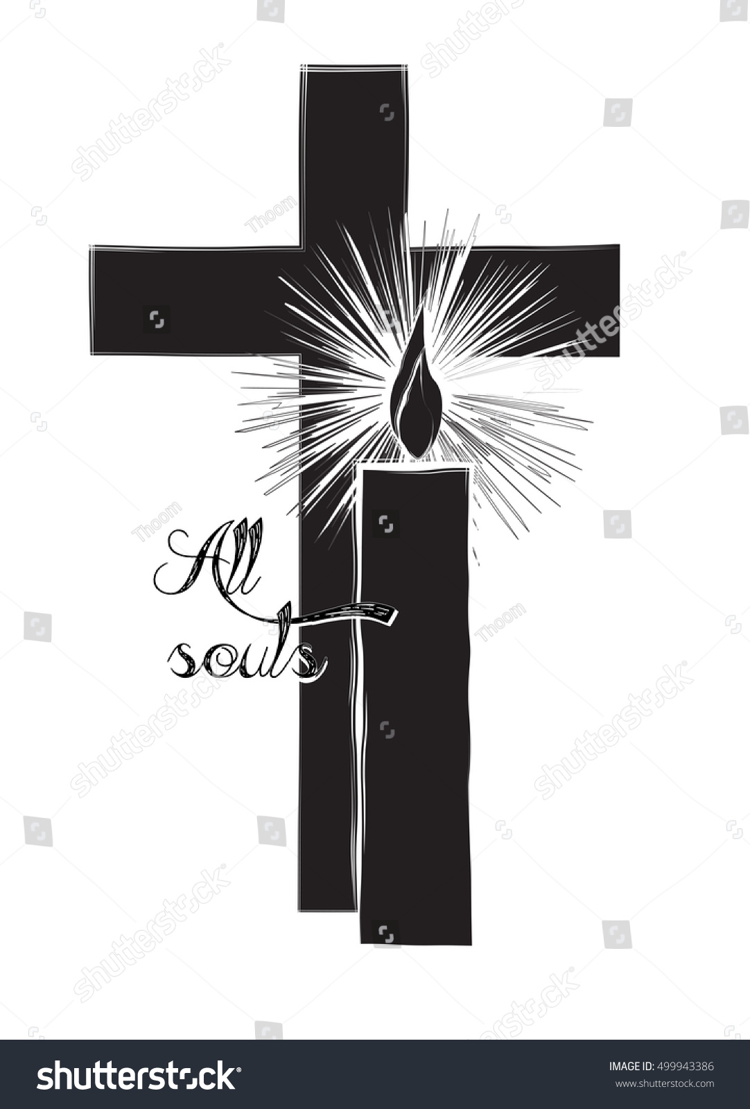 All Souls Day Funeral Christian Death Stock Vector Royalty Free