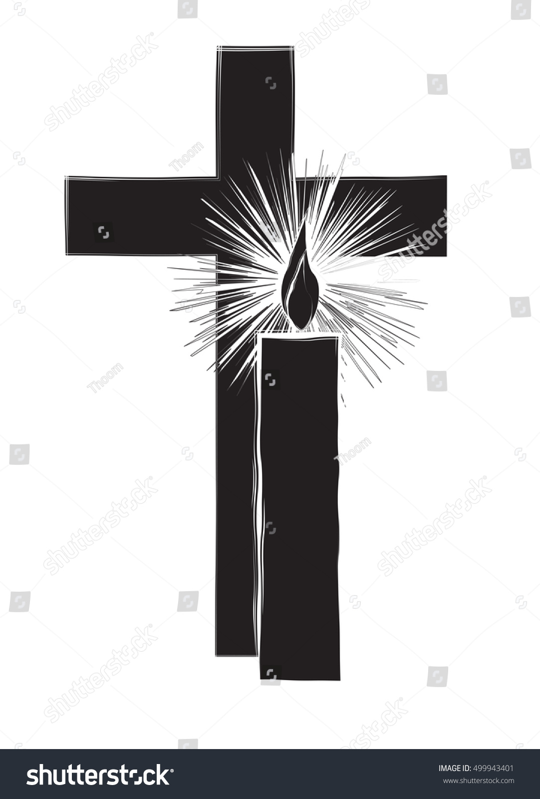 Funeral Christian Death Remembrance Religious Christian Stock Vector