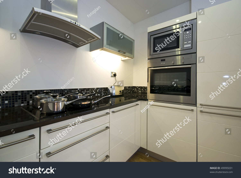 Contemporary kitchen modern appliances white stock photo 49995031 shutterstock - Modern kitchen with white appliances ...