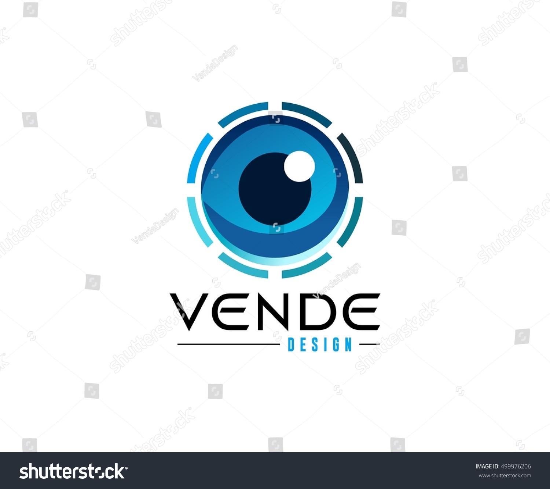 eye logo stock vector 499976206 shutterstock Free Large Swoosh Free Swoosh Header Vector